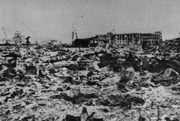 6th September 1945: Hiroshima one month after the atomic bomb was dropped.