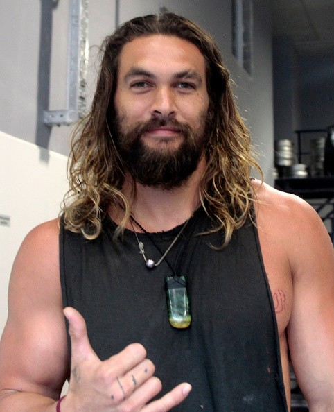Actor Jason Momoa attends Aerobic Climb Exhibition on August 19, 2016 in Barcelona, Spain.