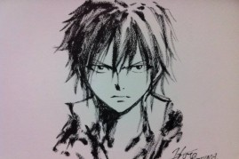 Gray Fullbuster as drawn by 'Fairy Tail' creator Hiro Mashima
