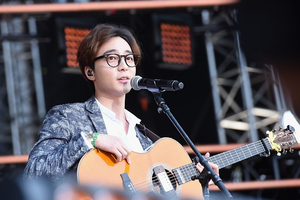 Singer-songwriter Roy Kim performs during the Global Citizen 2015 Earth Day in Washington DC.