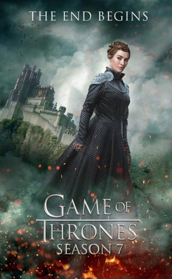 "Cersei Lannister (Lena Headey), the enigmatic Queen of Westeros, is shown in a fan-made poster of ""Game of Thrones"" season seven."