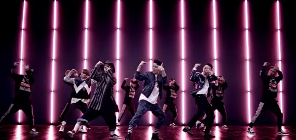 "Insoo along with his MYNAME co-members in the music video of their single ""Just Tell Me""."