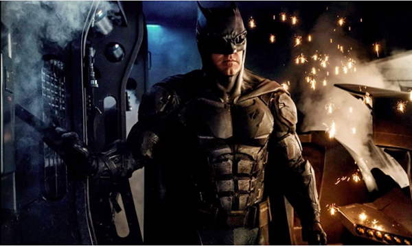 "Actor Joe Manganiello (""True Blood"") gives a good impression for the upcoming ""Batman"" film."