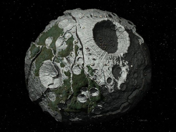 Asteroid 16 Psyche is one of the ten most-massive asteroids in the asteroid belt.