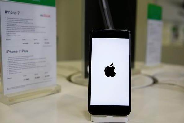 An Apple phone is seen at a shop after Apple launched iPhone 7 and 7 plus in Moscow, Russia on October 26, 2016.