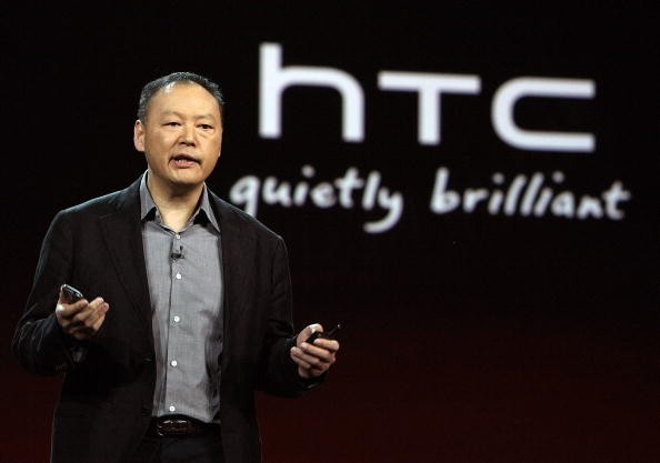 HTC CEO Peter Chou speaks during a keynote address by Qualcomm Chairman and CEO Paul E. Jacobs during the 2010 International Consumer Electronics Show.