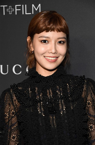 Girls' Generation member Sooyoung arrives at the 2016 LACMA Art + Film Gala honoring Robert Irwin and Kathryn Bigelow.