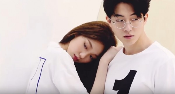 Lee Sung Kyung and Nam Joo Hyuk during a photoshoot.