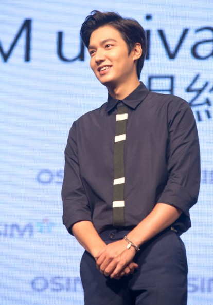 """The Legend of the Blue Sea"" actor Lee Min Ho during his visit in Taipei."