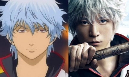 Anime vs. Real Live Action comparison of Gintoki