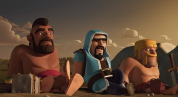 Hog Rider, Wizard and Barbarian on a beach in latest teaser of 'Clash of Clans'