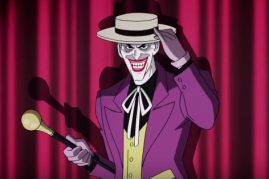 The Joker in a scene from 'Batman: The Killing Joke'.
