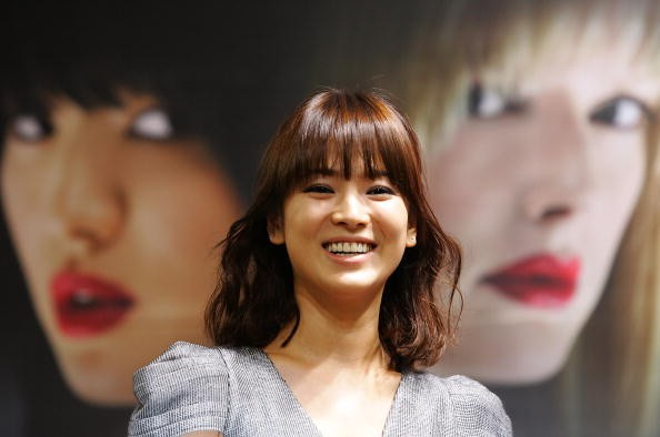 Actress Song Hye Kyo in attendance during the 2008 Pusan International Film Festival in South Korea.