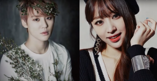 K-pop stars JYJ's Junsu and EXID's Hani are officially dating.